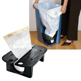 Garbage liner dispenser for the bottom of the garbage can!