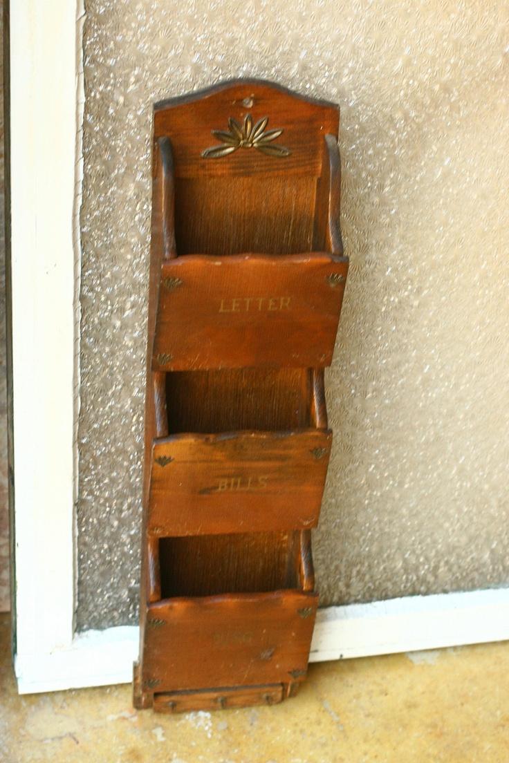 vintage mail holder mail hanging mail organizers home. Black Bedroom Furniture Sets. Home Design Ideas