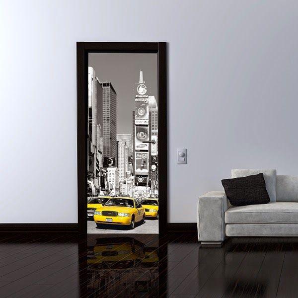 1000 images about decorar las puertas con fotomurales on for Fotomurales decorativos