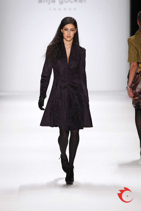 anja gockel - fashionable purble coat dress
