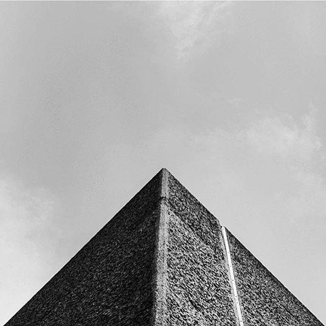 Our own concrete pyramid -did you know we are made of 130,000 cubic metres of concrete?  Brutal, indeed... #geometryclub #london #barbican #brutalism #architecture