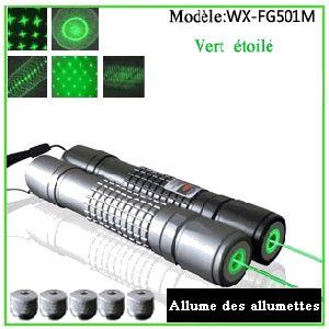 C'est dix fois plus lumineux que d'un laser rouge à cause de laquelle 3000MW pointeur laser vert puissant pas cher peut être vu de miles de là. Cela est du au fait que la couleur verte est plus proche du centre du spectre visible et donc plus facilement visible que le rouge.