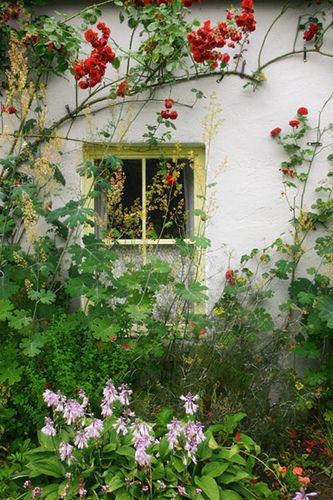 Cottage Garden window, Bunratty Folk Park, County Clare, Ireland