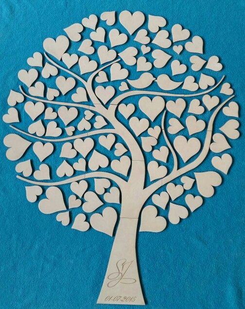 Bruiloft houten boom mdf gastenboek wensboom valentijn