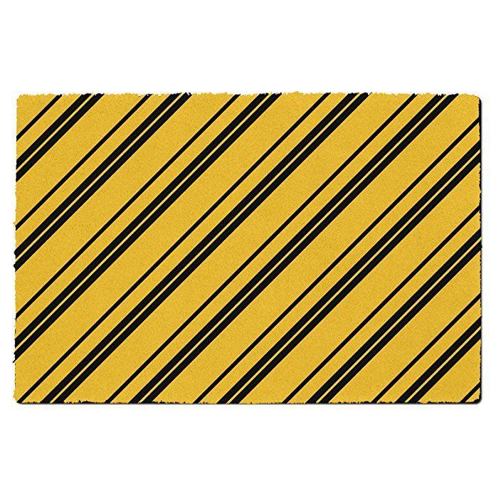 Harry Potter Inspired House Stripes Hufflepuff - Small Door Mat - Door Mat - Indoor Neoprene