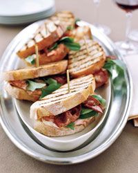 Grilled Salmon Sandwiches Recipe on Food & Wine One of the great things about roasting a whole salmon is that there are usually leftovers. Love uses any extra fish in his exquisite riff on the BLT, layered with bacon and watercress. The sandwich would be equally good with another roasted fish, such as bluefish or cod.