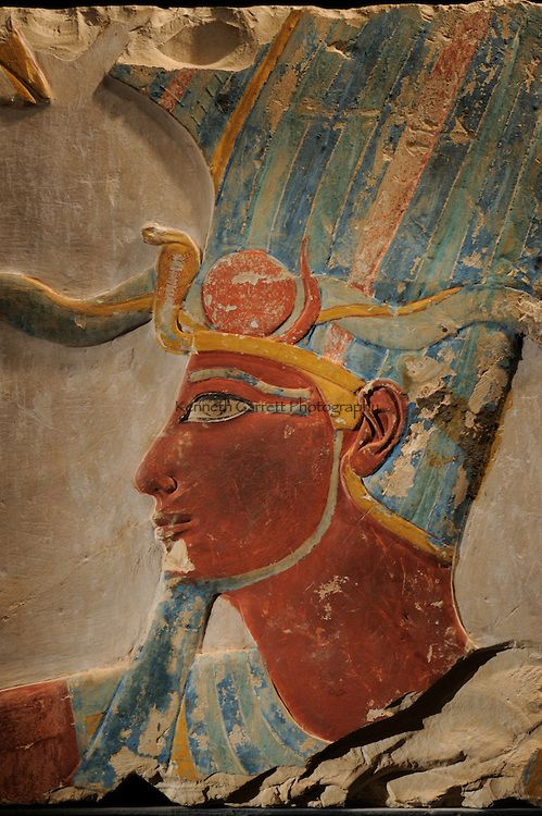 Hatshepsut Egypt, Deir El Bahri Temple, sunset with lights, Luxor Museum Hatshepsut and Thutmosis III