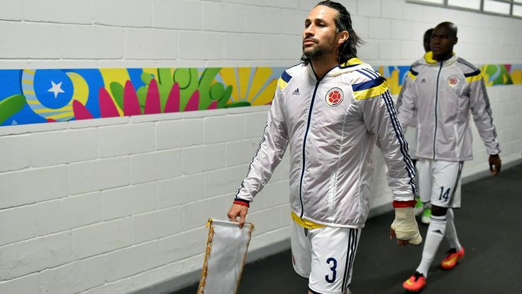 Mario Yepes of Colombia walks in the tunnel