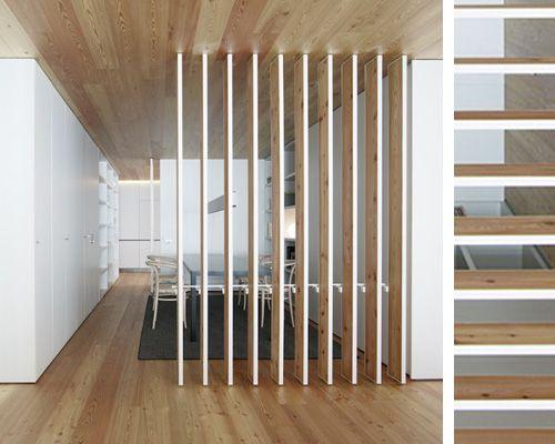 40 mejores imágenes sobre Separadores de ambientes en Pinterest - muros divisorios de madera
