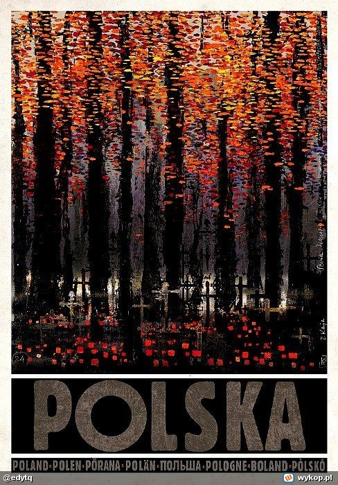 """Polska"" is a poster-based graphic project by Ryszard Kaja - graphic designer and painter."