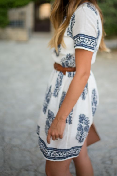 You can't go wrong with a white summer dress. So beachy and fun!
