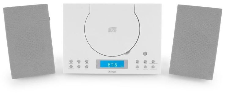Hi-fi system Audio equipment Radio Alarm Clock CD Player AUX Compact white | Compact/Shelf Stereos | Home Audio & HiFi Separates - Zeppy.io