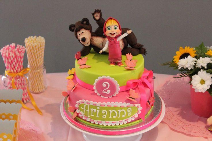 Masha and bear cake birthday party ideas