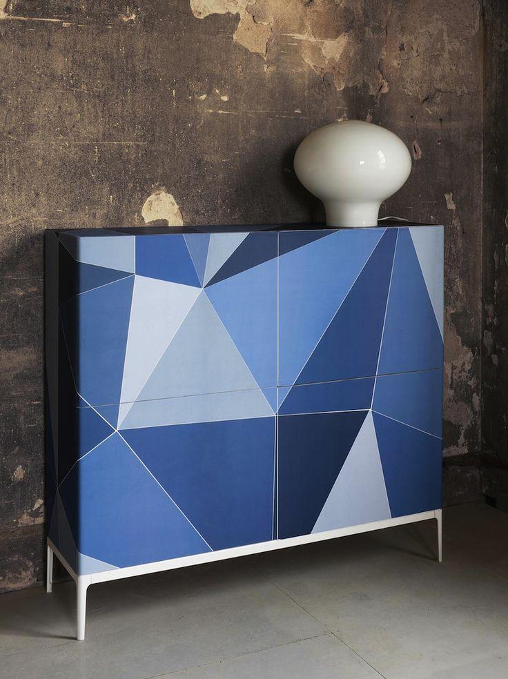 Bold geometric console