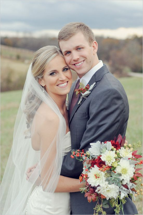 Fall Wedding Ideas - wedding photography by Alea Moore. Love her hair and her dress!