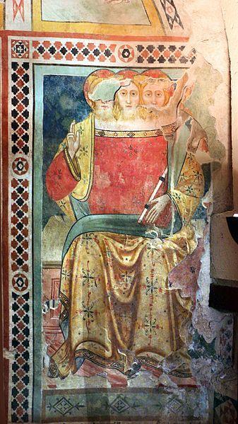 Artista umbro - Trinità - 1390 ca.   - Museo civico di Gualdo Tadino (Umbria)