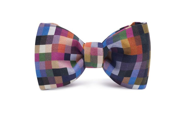 marthu self-tied bow tie WINTER PIXEL k0060
