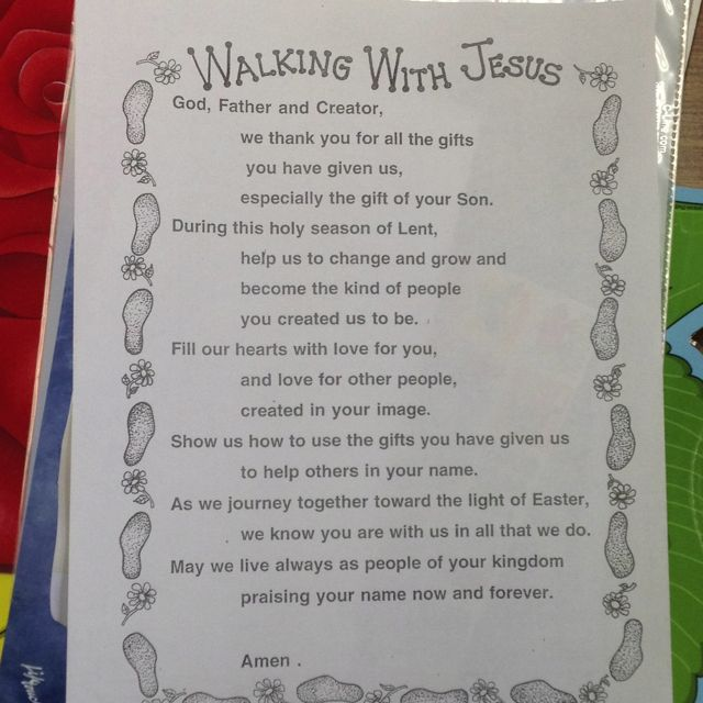 Lent prayer which requires some inclusive language help, but still good.