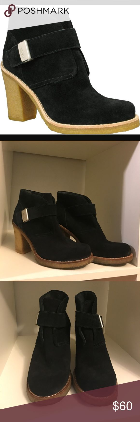 Ugg 'Brienne' black suede platform ankle boots Ugg 'Brienne' black suede platform ankle boots. In excellent used condition! No flaws. Only some dirt on the rubber soles. Suede has no wear. These are hard to find and super comfy and cute!!! UGG Shoes Ankle Boots & Booties