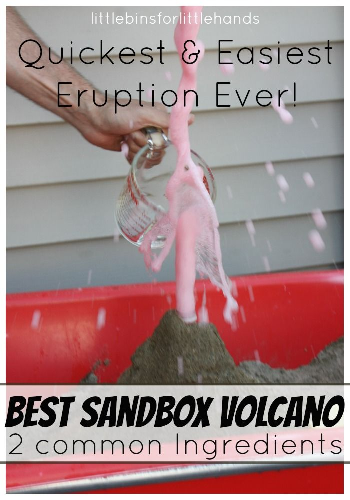 Chemistry / Sandbox volcano eruption