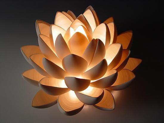 Lotus: Lilach Lotan: Ceramic Table Lamp - Artful Home