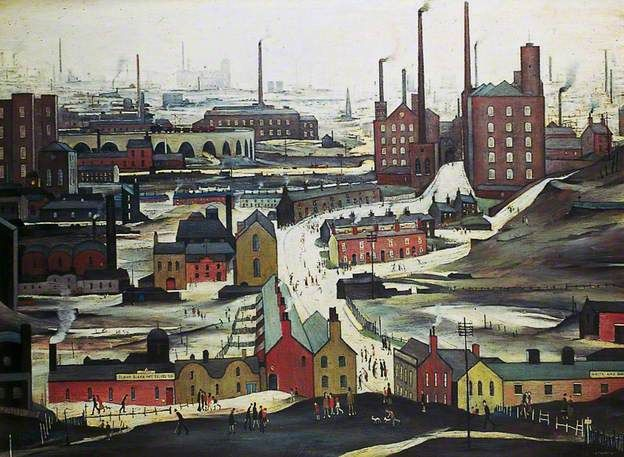 L.S.Lowry, Industrial Landscape (Ashton under Lyne) 1952
