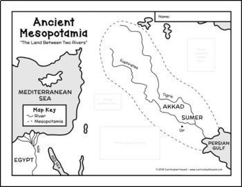 Ancient Mesopotamia Map FREE by Curriculum Hound
