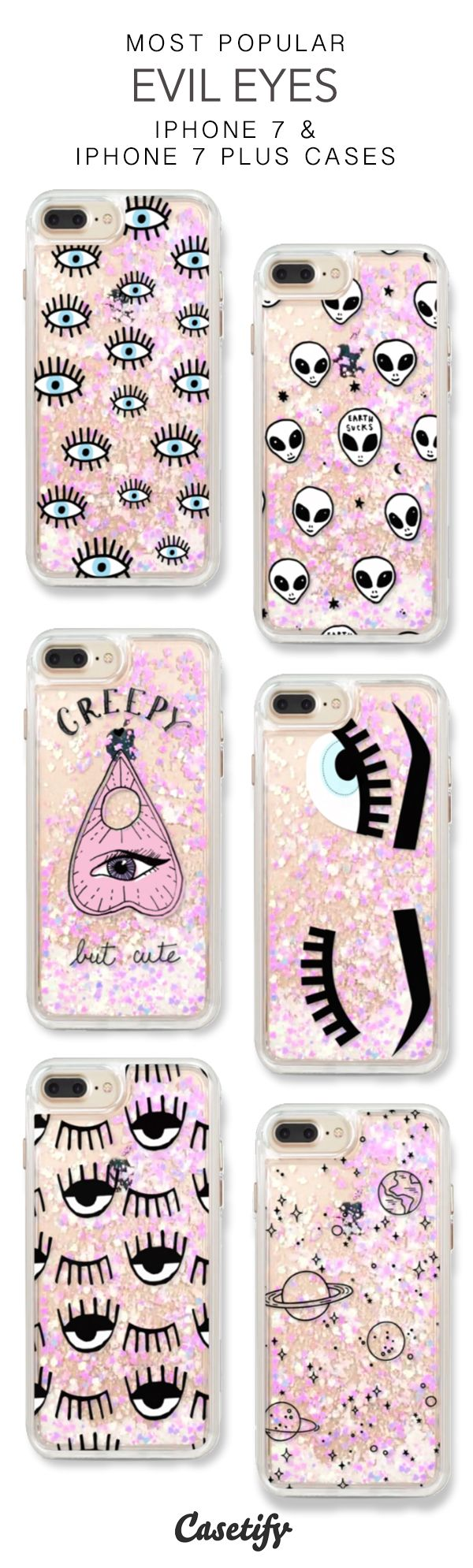 Most Popular Evil Eye iPhone 7 Cases & iPhone 7 Plus Cases. More glitter iPhone case here > https://www.casetify.com/en_US/collections/iphone-7-glitter-cases#/