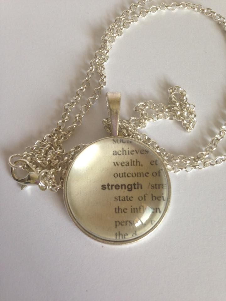 Strength Pendant Show someone how strong you truly think they are. Encouragement of strength in tough times can make all the difference