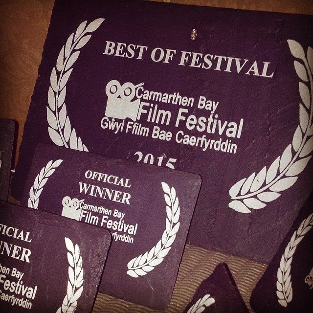 We had a lovely time at the Carmarthen Bay Film Festival awards last night. We were proud to sponsor the event by providing the Welsh slate triphies for the winners - we hope they like them!