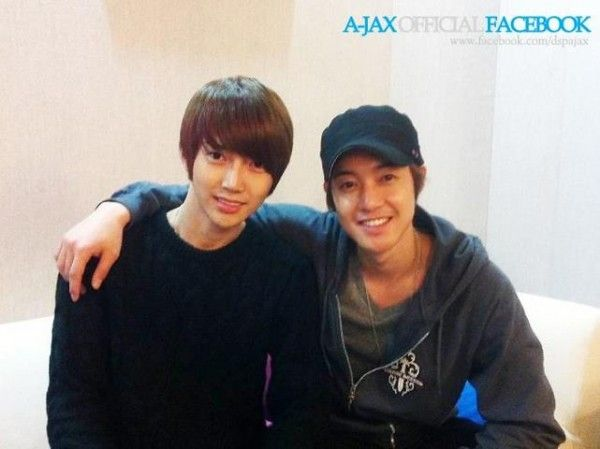 A-JAX | Kim Hyun Joong shows his support for DSP Media's rookie group, A-JAX