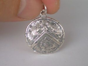 Spartan Shield Silver Pendant - King Leonidas - Ultimate Warriors - Thermopylae  | eBay