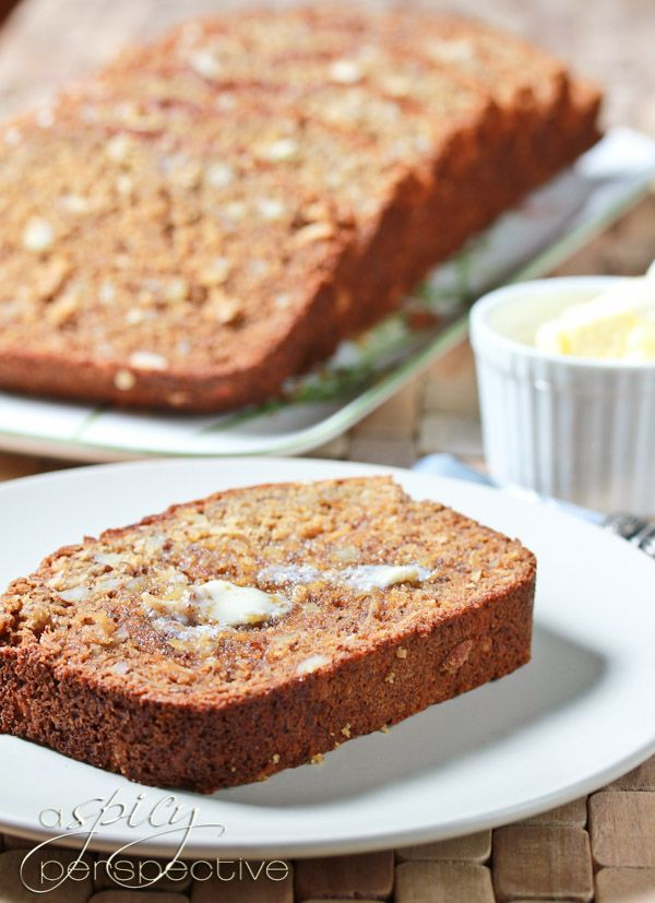 Banana Coconut Bread 1 cup sugar 1 stick of softened butter 1/4 cup ...