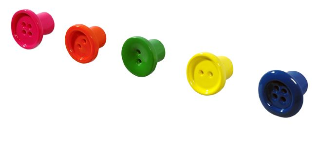 BUTTON-UP. Mini-hooks, set of 5. Design; FRIS Ontwerpen. Also available in white