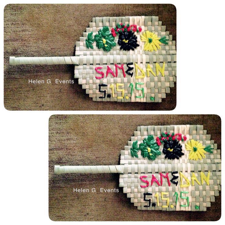 Jamaica Wedding Gift Bags : Jamaican straw fan done by @helengevents for wedding favors. #weddings ...