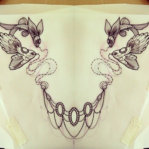 This would be an amazing chest piece (by Miss Juliet Tattoos)