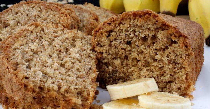 Receita de bolo de banana sem farinha