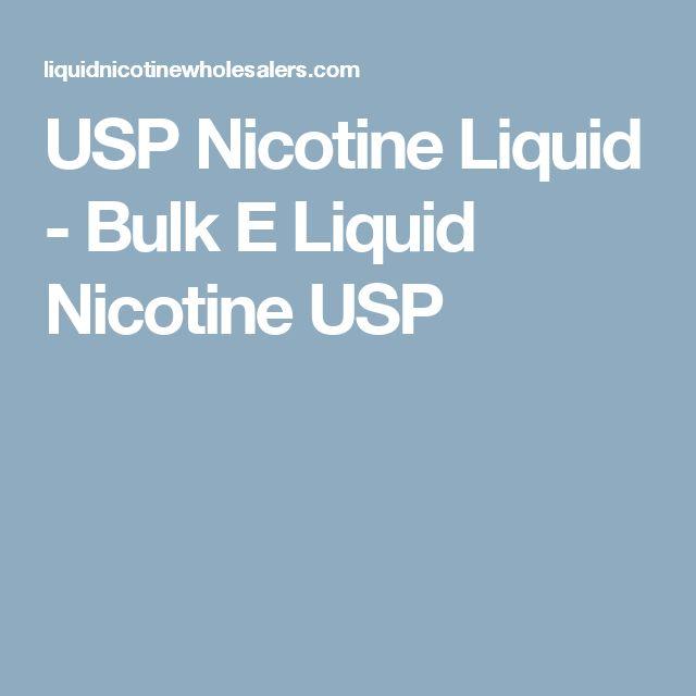 USP Nicotine Liquid - Bulk E Liquid Nicotine USP