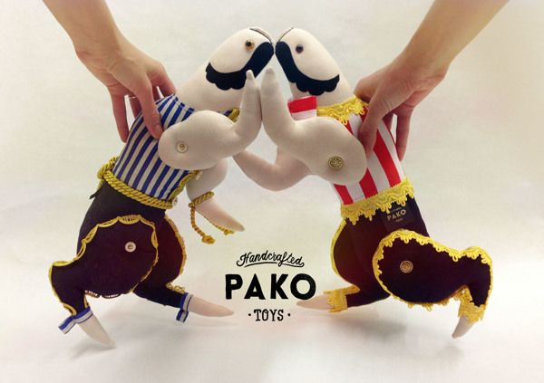 Wrestlers by PAKO Toys, via Behance