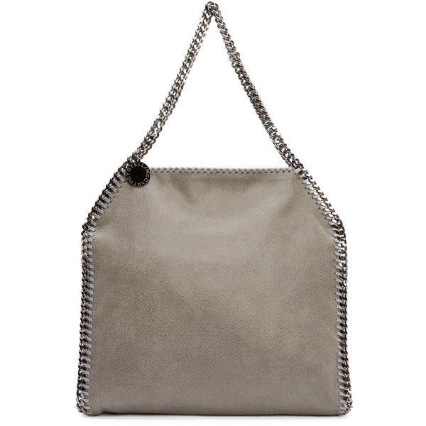 Stella McCartney Light Grey Shaggy Deer Babybella Bag (€1.070) ❤ liked on Polyvore featuring bags, handbags, tote bags, light, light grey handbag, tote purses, handbags totes, stella mccartney purse and stella mccartney