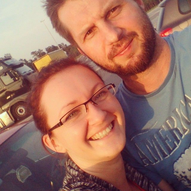 and that's us! Me&my hubby somehere in Poland by the Germany border ;)