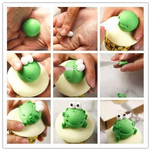 cute Frog Cupcake Topper