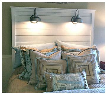 DIY Headboard Less Than $50 - http://nauticalcottageblog.com/2013/10/10-creative-coastal-headboard-ideas/