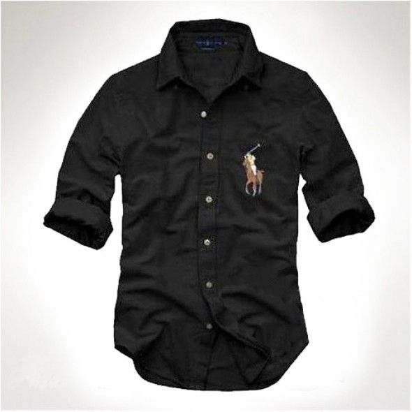 Ralph Lauren White Men's Big Pony Shirts Cool