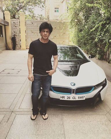 SRK's new BMW i8, fastest electric car in the world, June 2016