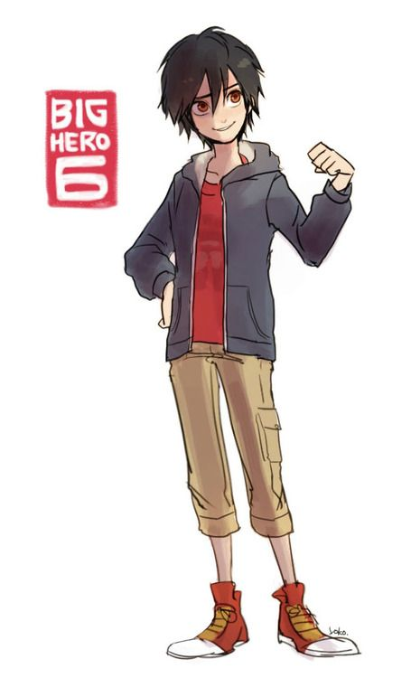 I could have mistaken this for a drawing of Nico, but I know it's Hiro because it says Big Hero 6 in the corner...