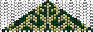peyote triangle abstract green -- Ildikó gyöngyvilága: medál/pendant