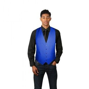 Men's Royal Blue Full Back Dress Vest
