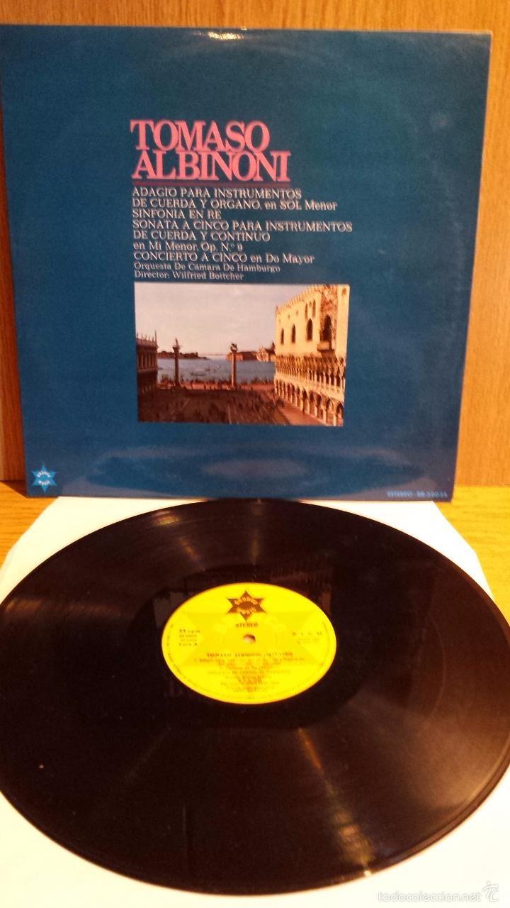 TOMASO ALBINONI. ADAGIO PARA INSTRUMENTOS DE CUERDA Y ORGANO.LP/BRONO MUSIC. ***/***