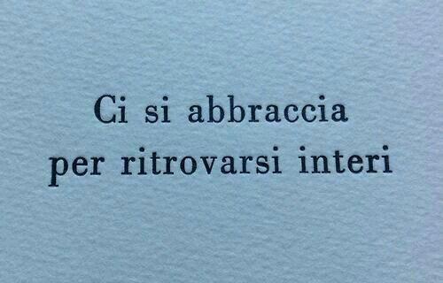 Abbraccio..